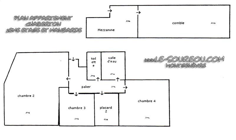 Appartement Le Chaberton - Plan - Montgenèvre © Le Soureou