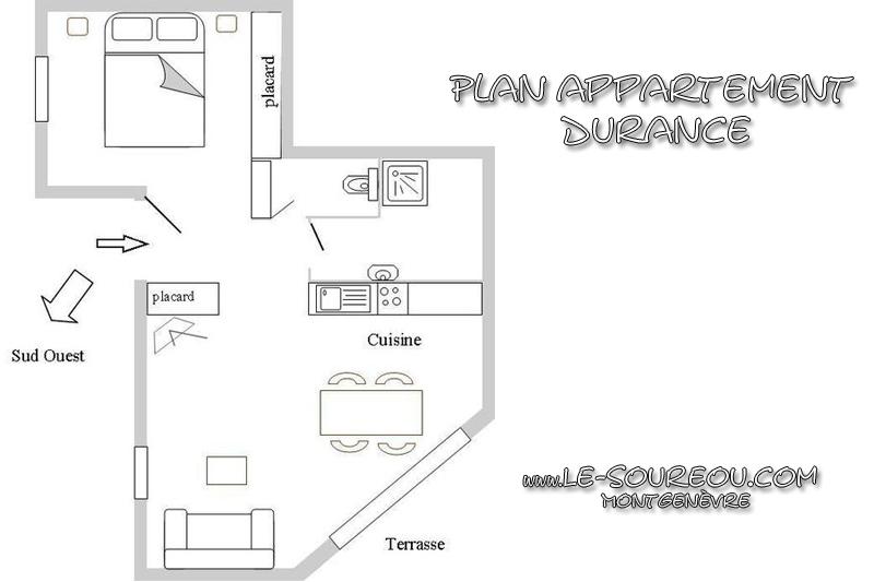 Appartement La Durance - Plan - Montgenèvre © Le Soureou