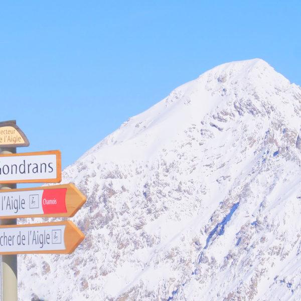 Sommet de le Crête - Montgenèvre en hiver